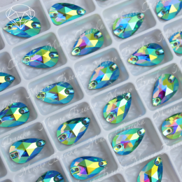 "Капля ""АВ Перидот"" 07*12 мм SWA crystalls"