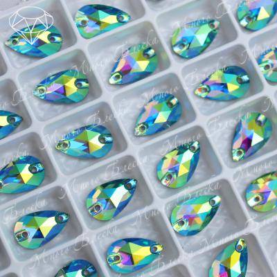 "Капля ""АВ Перидот"" 07*12 мм SGA crystalls"
