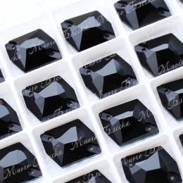 "Гео ""Джет блэк"" 13*17 мм SGA crystalls"