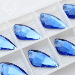 """Крыло бабочки """"Сапфир"""" 18х35мм SWA crystalls"""