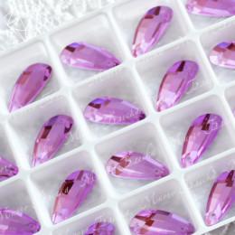 """Крылышки """"Сирень"""" 19*8мм SWA crystalls"""