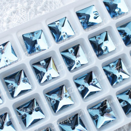 "Квадрат ""Аквамарин"" 12 мм SWA crystalls"
