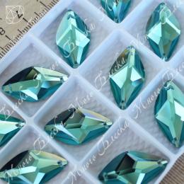 "Лист ""Аквамарин"" 14х26мм SWA crystalls"