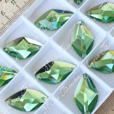 "Лист ""Перидот""14х26мм SWA crystalls"