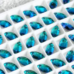"""Лодочка """"Блю циркон"""" 6*12 мм SWA crystalls"""