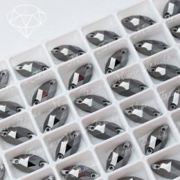 """Лодочка """"Гематит"""" 15-18мм SWA crystalls"""