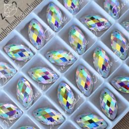 """Лодочка R """"АВ Кристалл"""" 9х18мм SWA crystalls"""