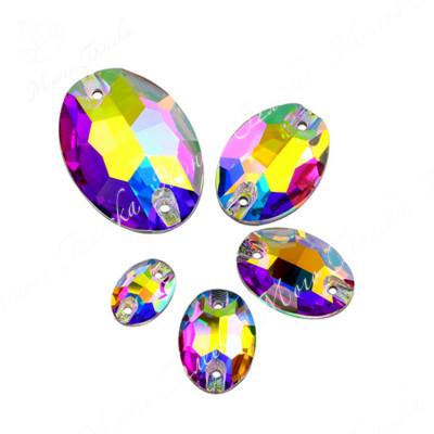 """Овал """"АВ Кристалл"""" 10*14мм SGA crystalls"""