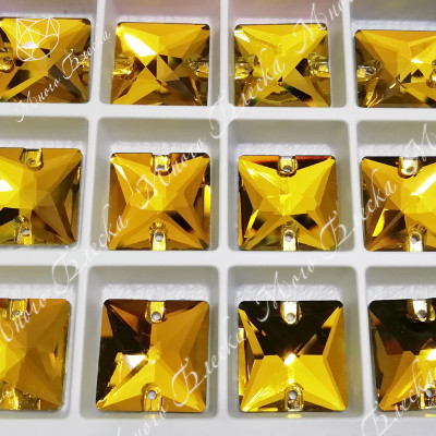 "Квадрат ""Топаз"" 16 мм SGA crystalls"