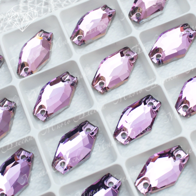 """Ромбовидные стразы """"Вайолет"""" 11*18мм SGA crystalls"""