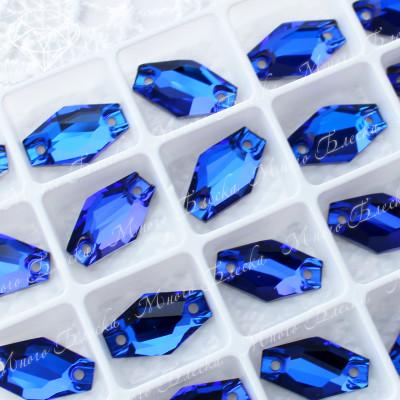 """Ромбовидные стразы """"Капри блю"""" 11*18мм SGA crystalls"""