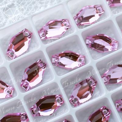 """Ромбовидные стразы """"Лайт роза"""" 11*18мм SGA crystalls"""
