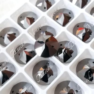"""Круг-мозаика """"Джет гематит"""" 14мм SWA crystalls"""