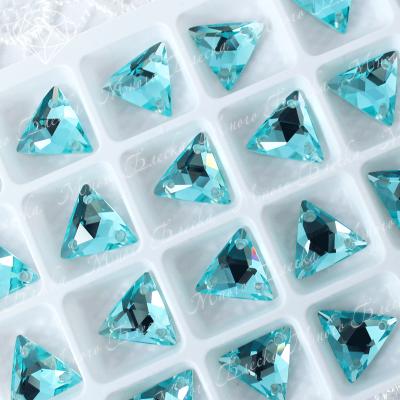 """Треугольник-мозаика """"Аквамарин ультра"""" 12мм SGA crystalls"""