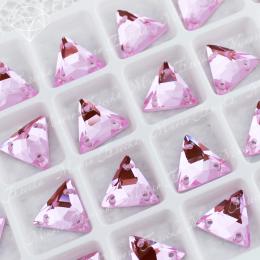 """Треугольник-мозаика """"Лайт пинк"""" 12мм SWA crystalls"""