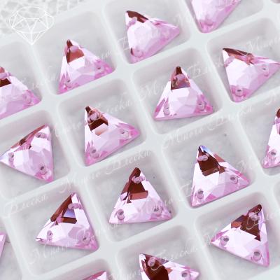 "Треугольник-мозаика ""Лайт пинк"" 12мм SGA crystalls"