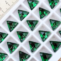 "Треугольник-мозаика ""Изумруд"" 12мм SWA crystalls"