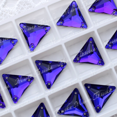 """Треугольник """"Пурпл"""" 16мм SGA crystalls"""