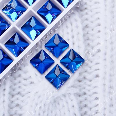 """Квадрат """"Капри блю"""" 16мм SGA crystalls"""