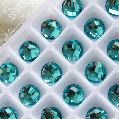"Круг-бри ""Аквамарин-ультра"" 12мм SGA crystalls"