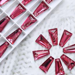 "Трапеция ""Роза вайн"" 10,8х19мм SGA crystalls"