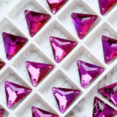 "Треугольник ""Фуксия"" 16мм SGA crystalls"